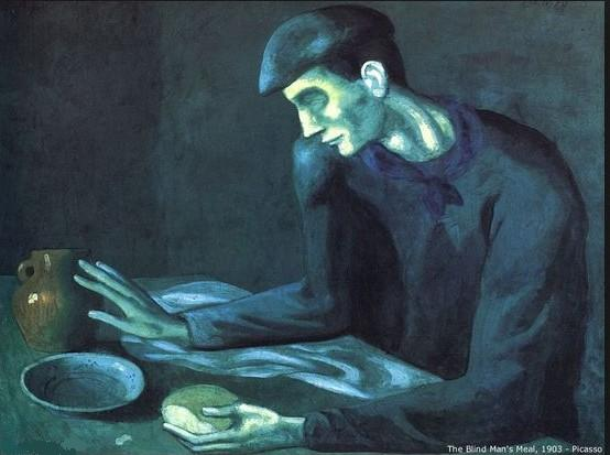 Picasso blind man